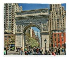 Washington Square Park - N Y C Fleece Blanket