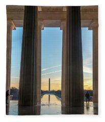 Washington Through Lincoln Fleece Blanket