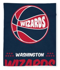 Washington Wizards Vintage Basketball Art Fleece Blanket