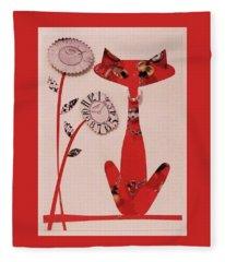 Watch-cat Fleece Blanket