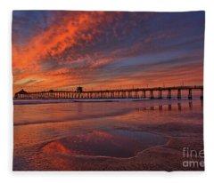 Watch More Sunsets Than Netflix Fleece Blanket