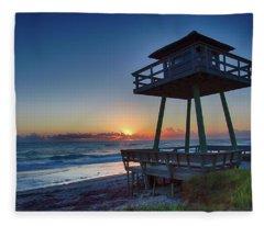 Watch Tower Sunrise 2 Fleece Blanket