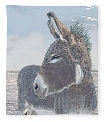 Watchful Gaze Fleece Blanket