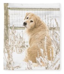 Watching It Snow Fleece Blanket