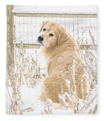 Watching It Snow Fleece Blanket