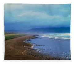 Watching The Approaching Storm Fleece Blanket