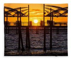 Watching The Sunset Fleece Blanket