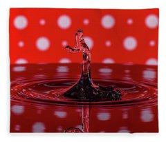 Water Drop Art Fleece Blanket