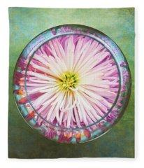 Water Flower Fleece Blanket