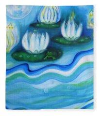 Water Garden Fleece Blanket