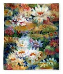 Water Garden II Fleece Blanket