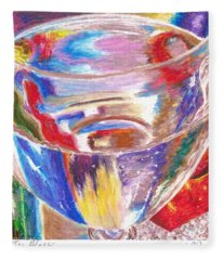 Water Glass Fleece Blanket