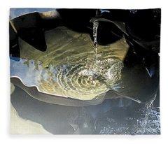 Water In The Shell Fleece Blanket
