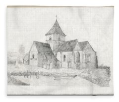 Water Inlet At Church Fleece Blanket