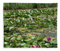 Water Lilies At Giverny - 2 Fleece Blanket