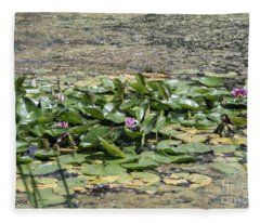 Water Lilies At Giverny - 5 Fleece Blanket