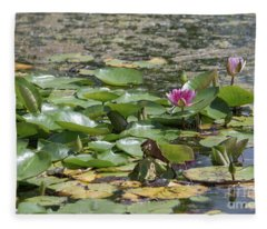 Water Lilies At Giverny Fleece Blanket