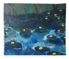 Water Lillies Fleece Blanket