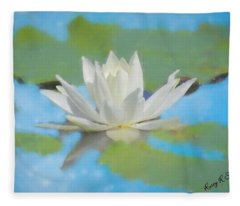 Water Lily Blossom Fleece Blanket