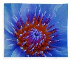 Water Lily Center Fleece Blanket