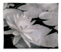 Water Lily In Infrared Fleece Blanket
