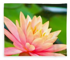 Water Lily In Pond Fleece Blanket