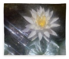 Water Lily In Sunlight Fleece Blanket
