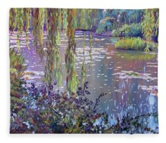 Water Lily Pond Giverny Fleece Blanket