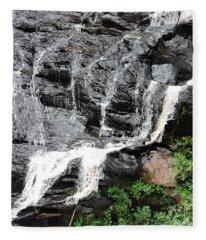 Water On Rocks Fleece Blanket