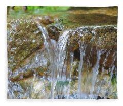 Water On The Rocks Fleece Blanket