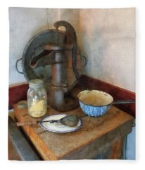 Water Pump In Kitchen Fleece Blanket