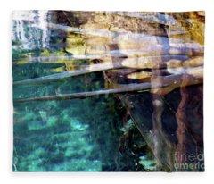 Water Reflections Fleece Blanket