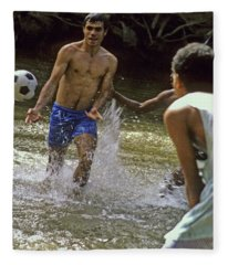 Water Soccer Fleece Blanket