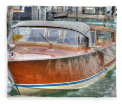 Water Taxi Italy Fleece Blanket