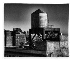 Water Tower Fleece Blanket