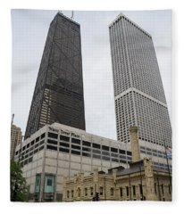 Water Tower Place And Company Fleece Blanket