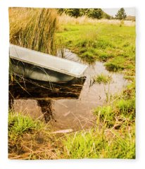 Water Troughs And Outback Farmland Fleece Blanket