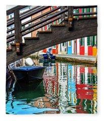 Water Under The Bridge Fleece Blanket
