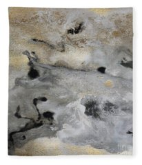 Watercolor Abstract Print - Diptych Part2 Fleece Blanket