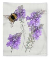 Watercolor Bumble Bee Fleece Blanket