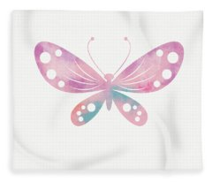 Watercolor Butterfly 1- Art By Linda Woods Fleece Blanket