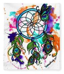 Watercolor Dream Catcher Fleece Blanket