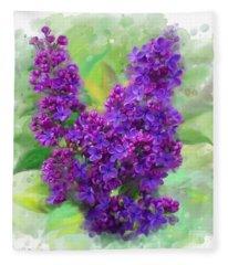 Watercolor Lilac Fleece Blanket