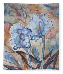 Watercolor - Orchid Impression Fleece Blanket
