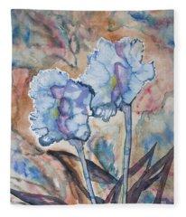 Watercolor - Orchid Impression Fleece Blanket