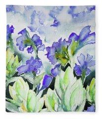 Watercolor - Rocky Mountain Wildflowers Fleece Blanket