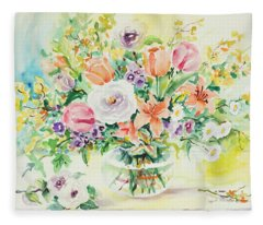 Watercolor Series 161 Fleece Blanket
