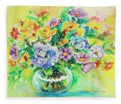 Watercolor Series 163 Fleece Blanket