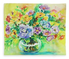 Watercolor Series 163 Fleece Blanket