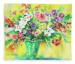 Watercolor Series 167 Fleece Blanket